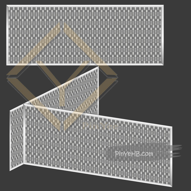 install the decorative mesh for museum on wall