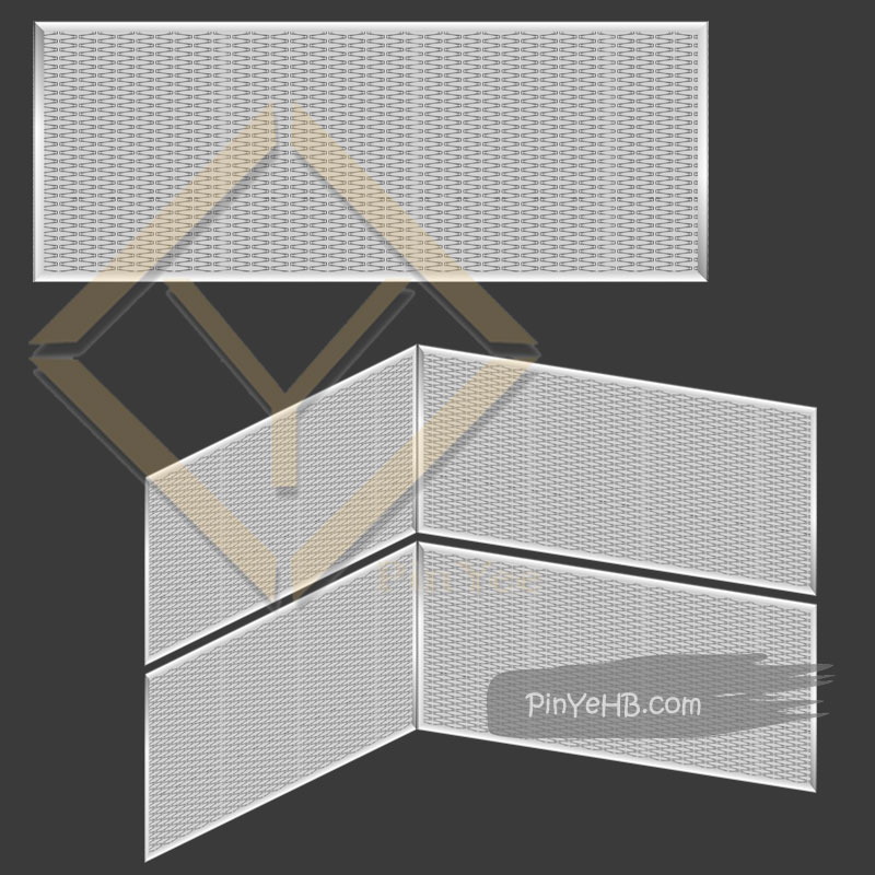 Architectural Woven metal mesh detail specification