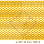 Raster pictures Expanded Metal mesh
