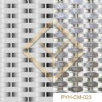 Interior surface covering woven metal mesh
