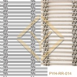 Interior room divider woven rope mesh