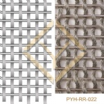 Interior wall cladding wire rope woven mesh