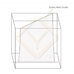 screwy able decorative mesh space dividers